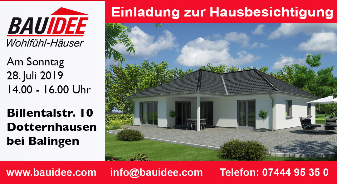 Bungalow in Dotternhausen